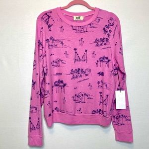 ALL THINGS FABULOUS Los Angeles pink sweater 💕